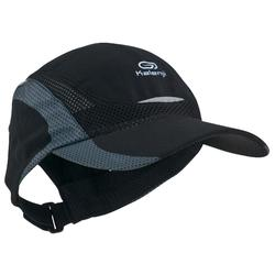 RUNNING CAP BLACK ADJUSTABLE 55-63 cm