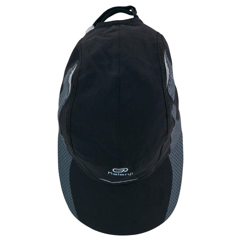 MEN'S RUNNING CAP BLACK HEAD SIZE 55-63 cm