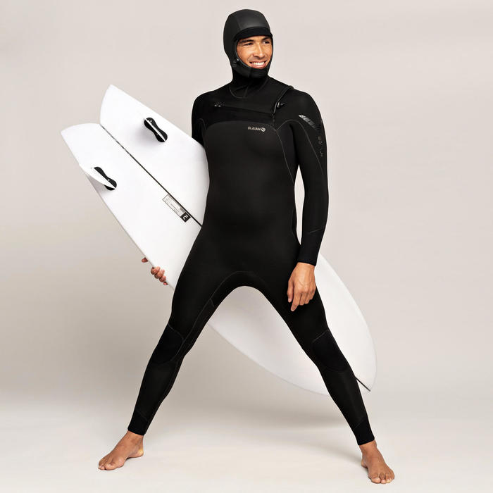 Combinaison de Surf 900 Néoprène 5/4 mm Cagoule Homme.