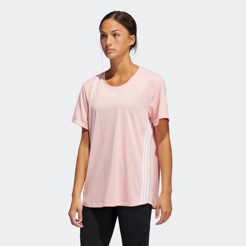 T-shirt cardio fitness femme rose