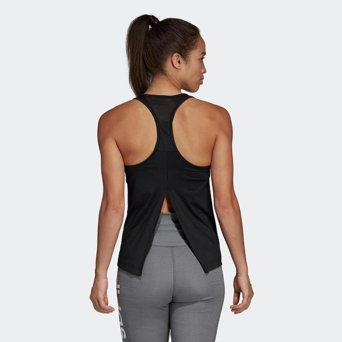 Débardeur cardio fitness femme noir et blanc