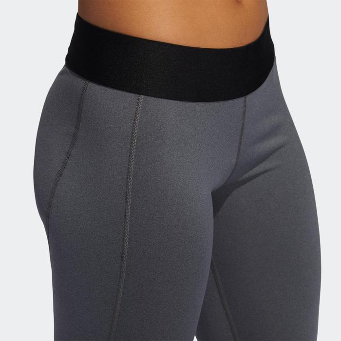 Fitnesslegging voor cardiotraining dames grijs
