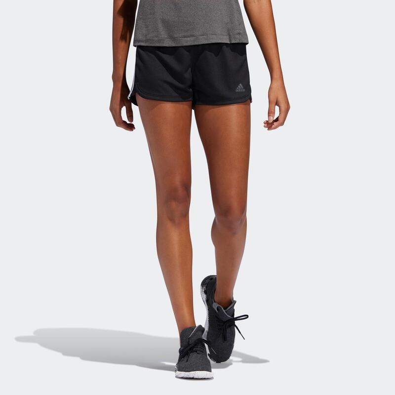 Short de fitness Adidas pacer 3-stripes knit noir femme
