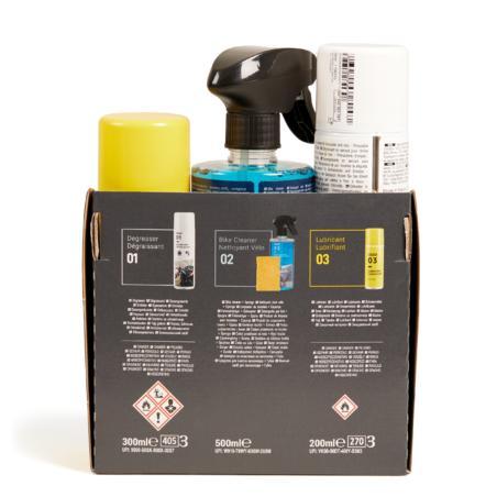 Tīrīšanas komplekts (sūklis, tīrīšanas līdzeklis, attaukotājs, smērviela)