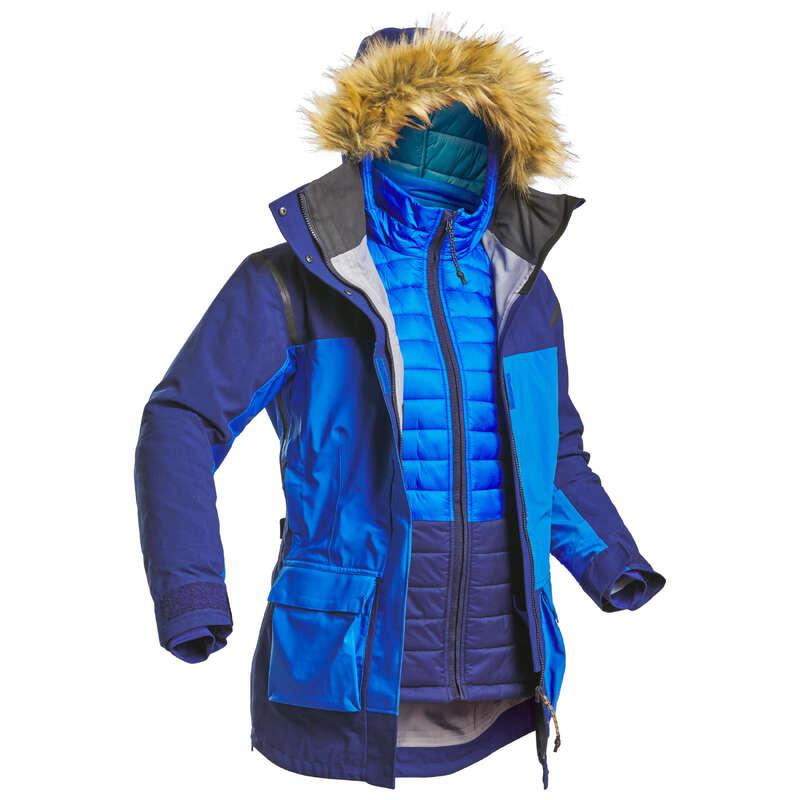 Sarkvidéki trekking ruházat - Női kabát Arctic 500 FORCLAZ