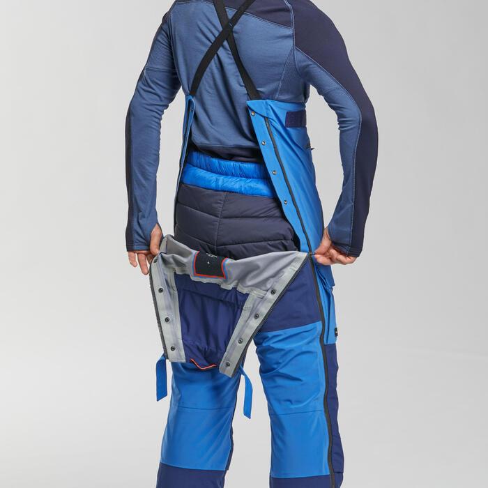 Pantalon salopette imperméable Arctique 900 Unisexe Bleu