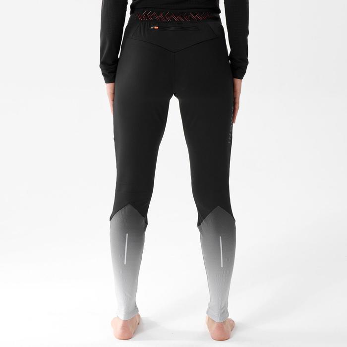 Calças justas de Ski de Fundo TIGHT 500 Mulher Preto