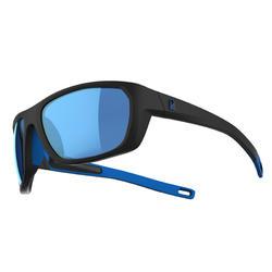 Watersportbril voor volwassenen 500 gepolariseerd drijvend maat M zwart