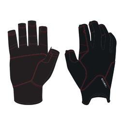 Adult sailing fingerless gloves 500 - black