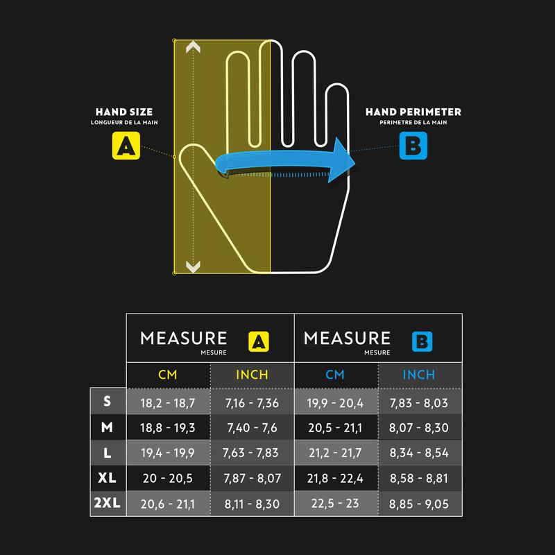 Men's golf right-handed resistance glove black/white