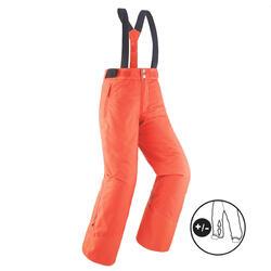 Warme en waterdichte skibroek voor kinderen PNF 500 koraal
