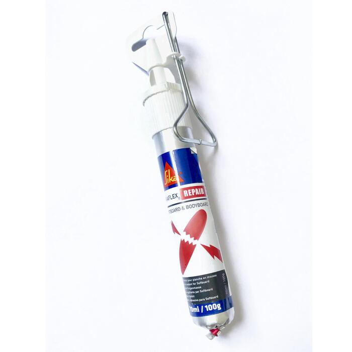 Kit de réparation mastic colle Sikaflex pour planche en mousse.