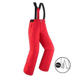 Warme en waterdichte skibroek voor kinderen PNF 500 rood