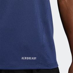 Tee shirt fitness cardio training homme bleu indigo