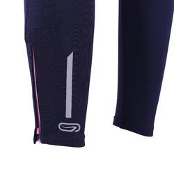 Kids' Cold Weather Athletics Tights Kalenji AT 300 - navy blue pink