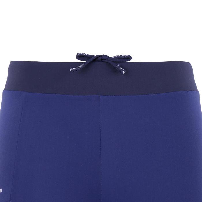 兒童款田徑緊身褲AT 500墨水藍