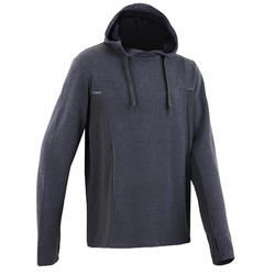 Sweat capuche jogging homme RUN WARM+ gris