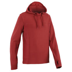 Sweat capuche jogging homme RUN WARM+ rouge