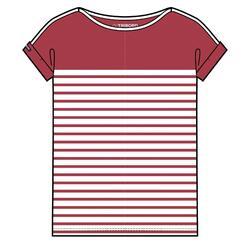 女款航海短袖T恤 100-紅色