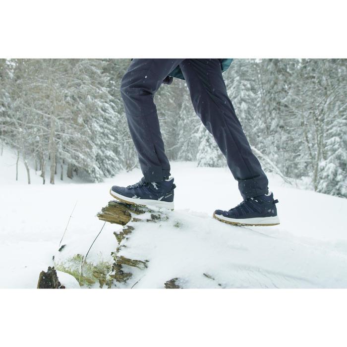 女款超保暖防水雪地健行中筒鞋SH100