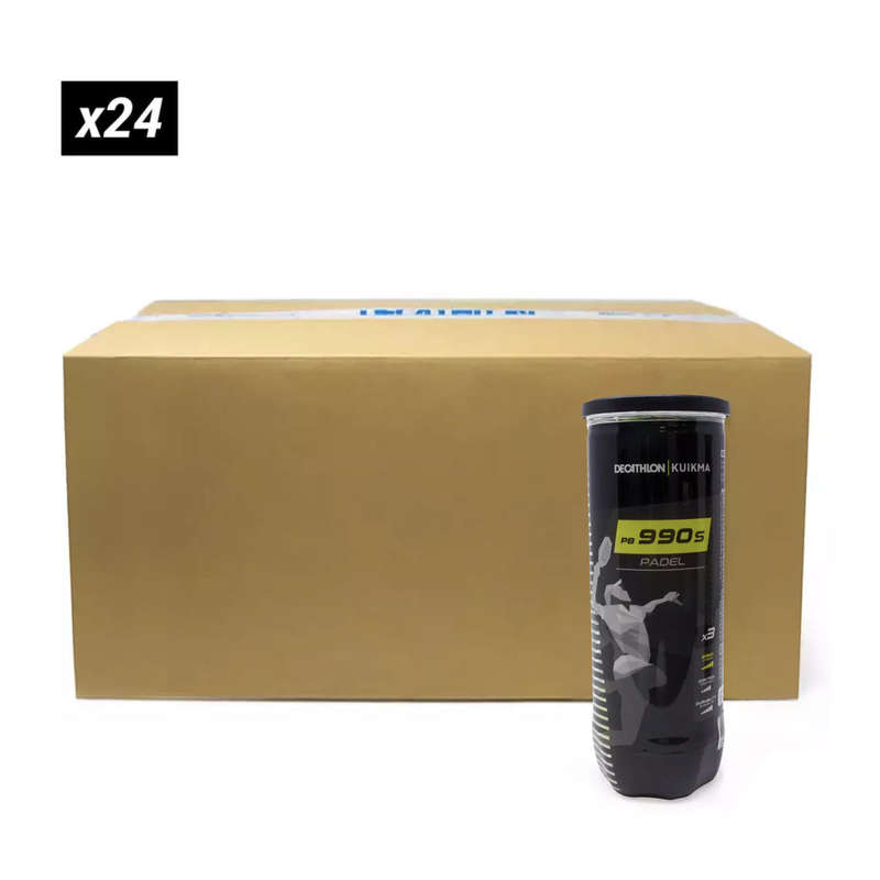 Uthyrn. padel. Racketsport - Padelboll PB 990 SPEED 24X3 KUIKMA - Padelutrustning