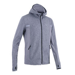 Veste jogging homme RUN WARM+ Gris