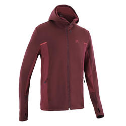 Veste jogging homme RUN WARM+ Bordeaux