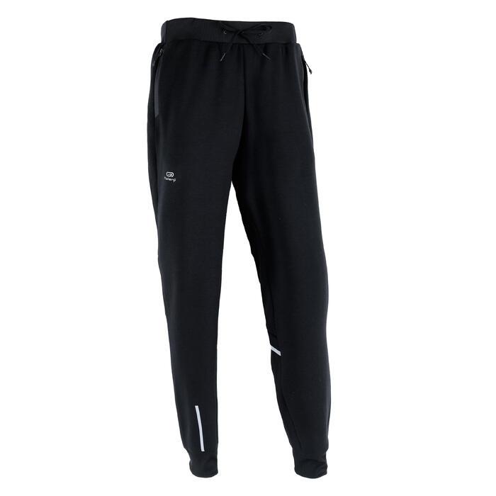 男款慢跑長褲RUN WARM+黑色