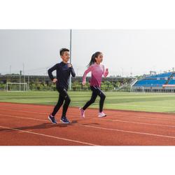 Kids' Cold Weather Athletics Tights Kalenji AT 300 - black blue