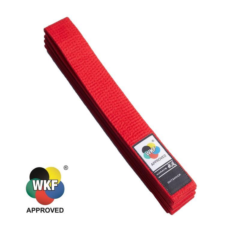 Cinturón Kárate Homologado WKF 3,1 M ROJO
