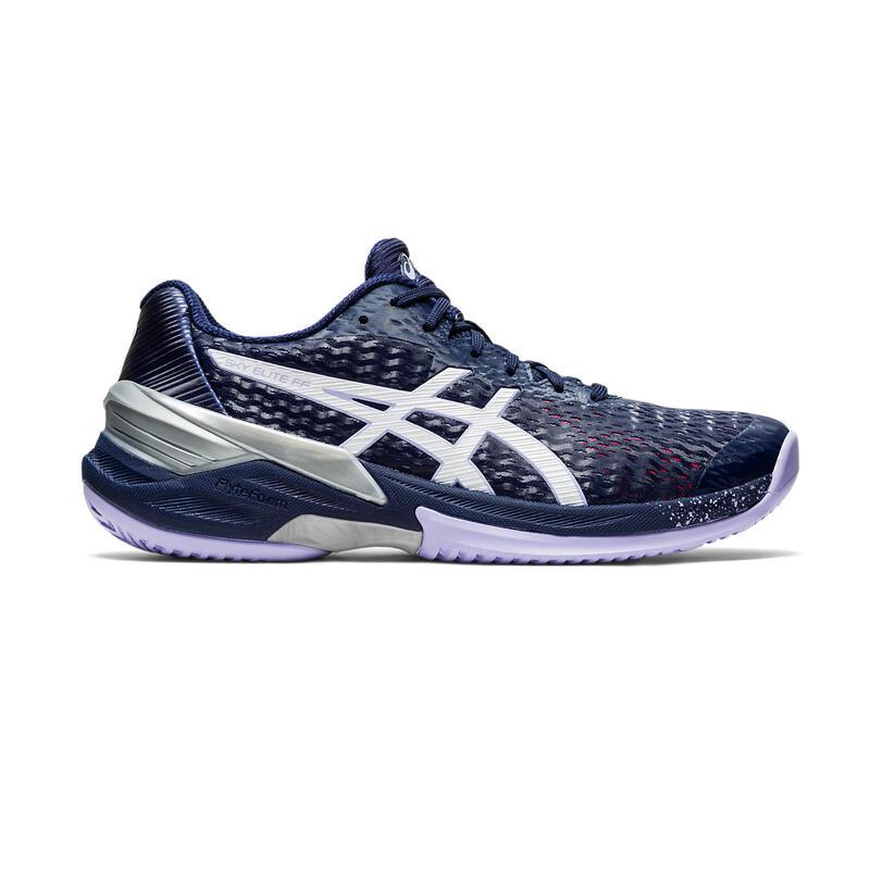 Chaussures de volley-ball Sky Elite Asics pour femme violettes et bleues