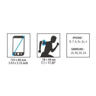 BRAZALETE SMARTPHONE RUNNING SP 16 NEGRO