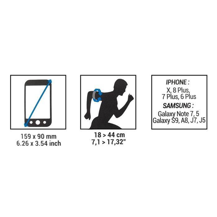 BRASSARD GRAND SMARTPHONE RUNNING NOIR