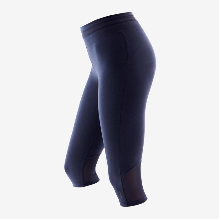 Corsaire Sport Pilates Gym Douce Femme 520 Slim Bleu Marine