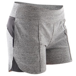 Short Sport Pilates Gym douce Femme 520 Gris