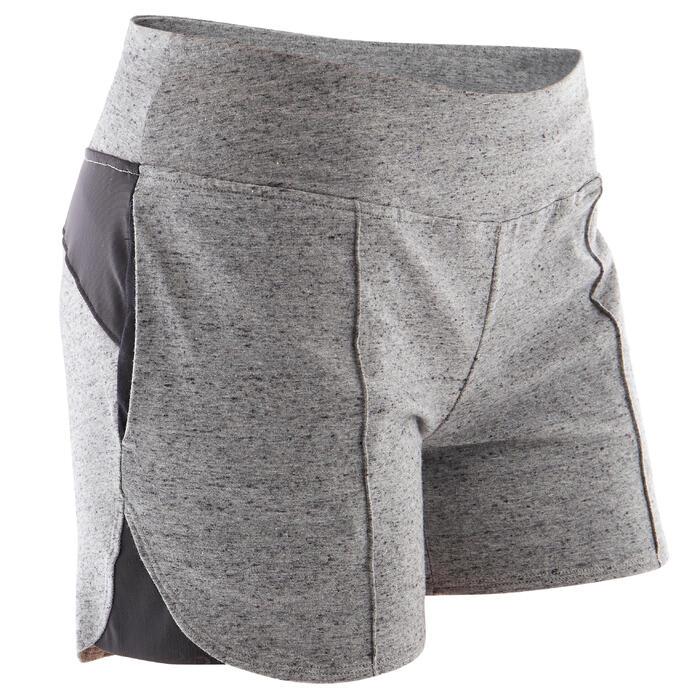 Short voor pilates en lichte gym dames 520 grijs