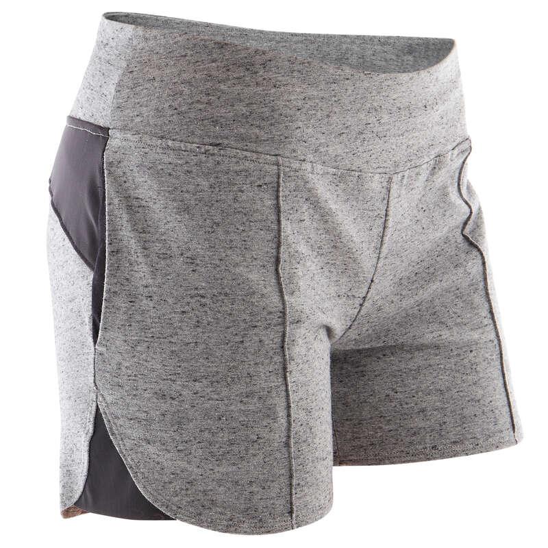 KLÄDER FÖR GYMNASTIK, PILATES, DAM Populärt - Shorts Gym 520 Dam grå DOMYOS - Populärt