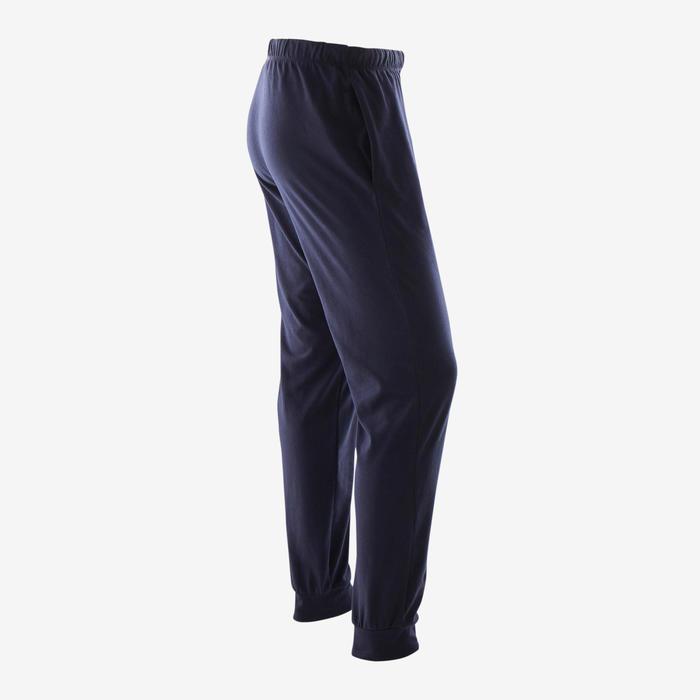 Pantalon jogging Fitness Bas resserré Bleu Marine