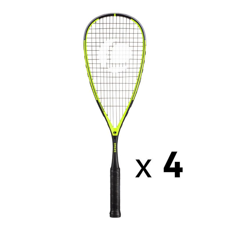 Kit 4 Raquetas Squash Opfeel SR 960 Power Para Tienda Profesional/Club