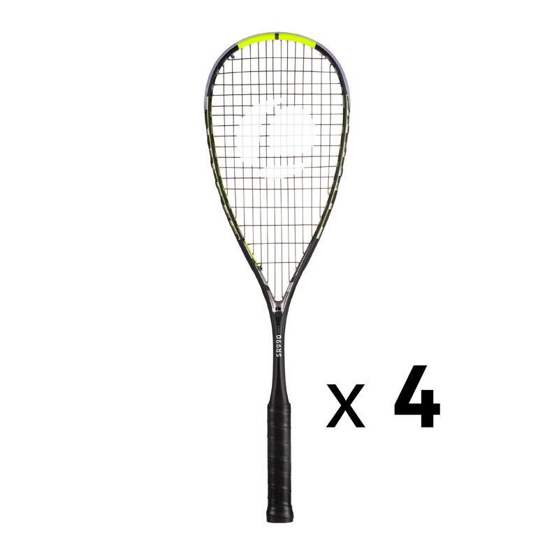 Kit 4 Raquetas Squash Opfeel SR 990 Power Para Tienda Profesional/Club