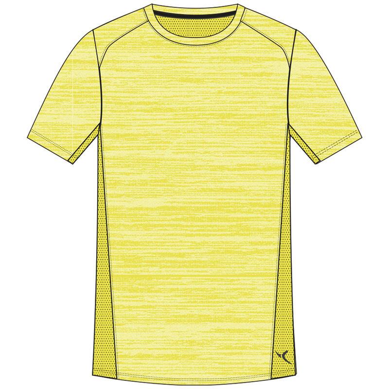 T-shirt manches courtes, coton respirant, 500 garçon GYM ENFANT jaune