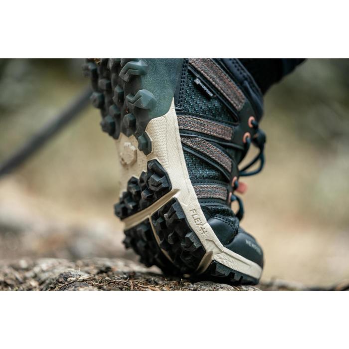 Chaussures imperméables de marche nordique NW 580 bleue
