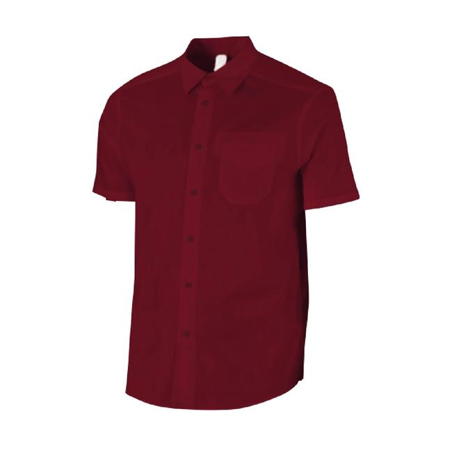 Men's Travel Trekking Shirt - TRAVEL 20 - Bordeaux