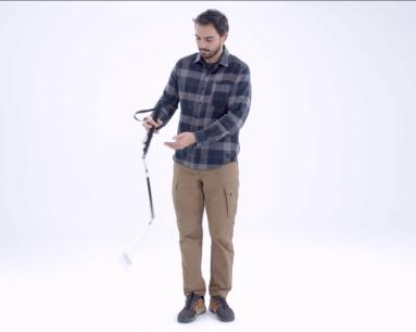 Baton de randonnée trois brins ultra compact