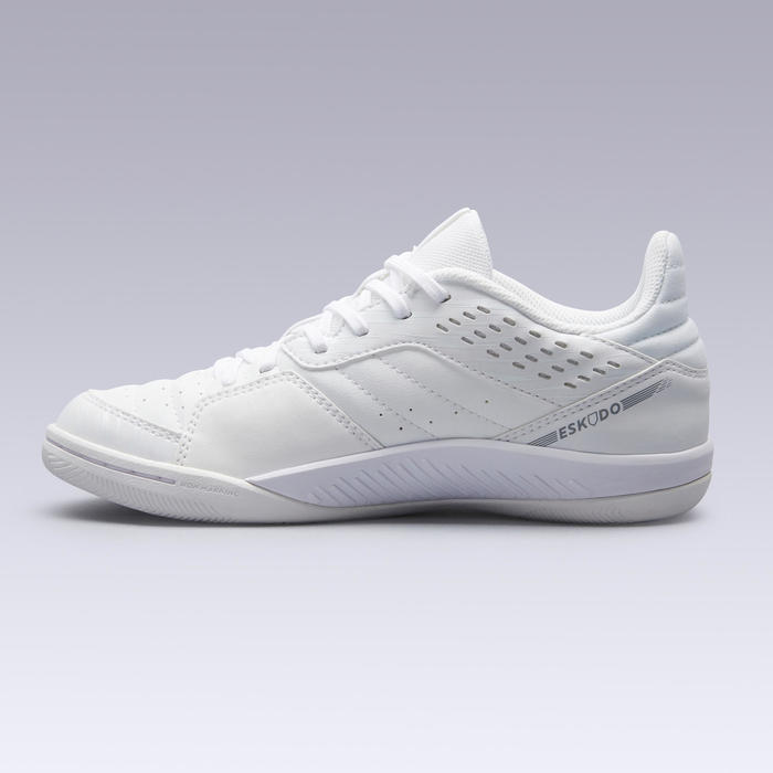Eskudo 500 Kids' Futsal Boots - White