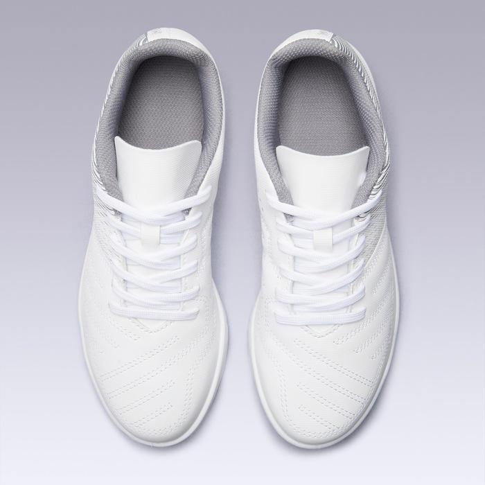 兒童款石地足球鞋100 - 冰雪白