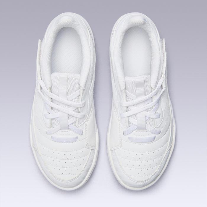 Zaalvoetbalschoenen kind Eskudo 500 klittenband wit