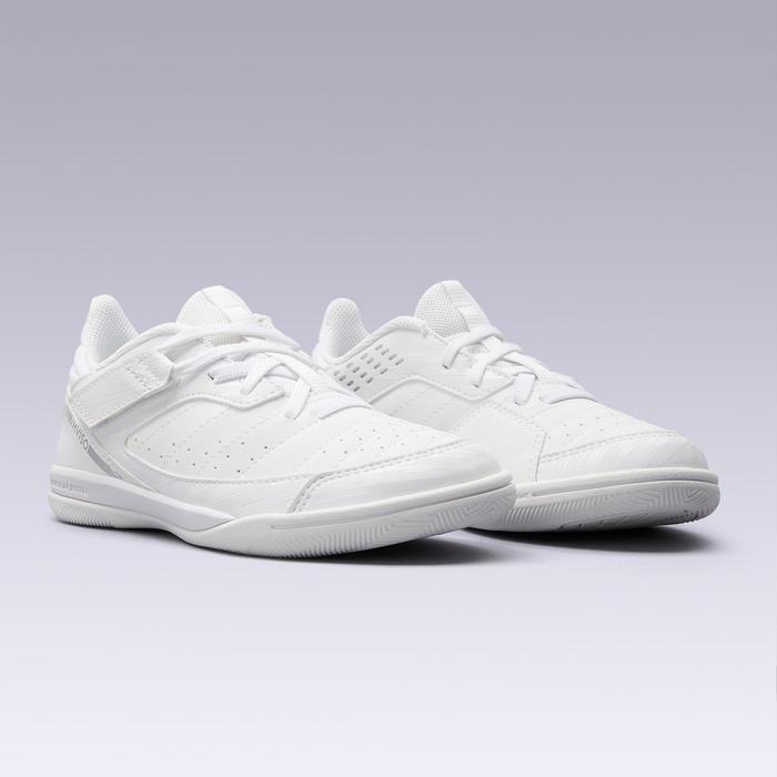 兒童款室內五人制足球鞋Eskudo 500-白色