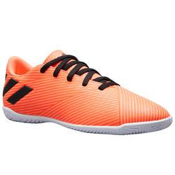 Zaalvoetbalschoenen voor kinderen NEMEZIZ 4 oranje/zwart