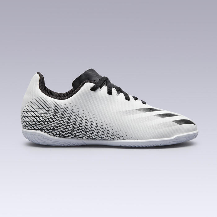 Chaussures de Futsal enfant X4 blanc noir